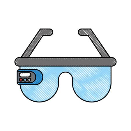 virtual reality glasses icon vector illustration design