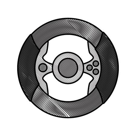 virtual reality iris eye vector illustration design Illustration