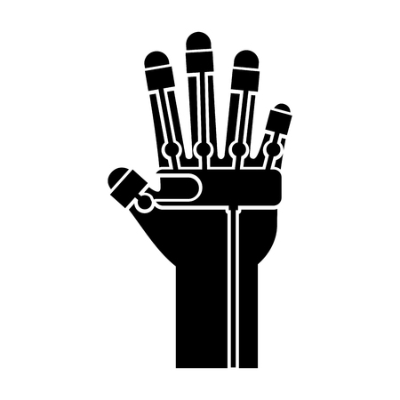 glove video game control vector illustration design