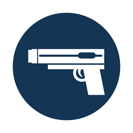 video game gun icon vector illustration design Illustration