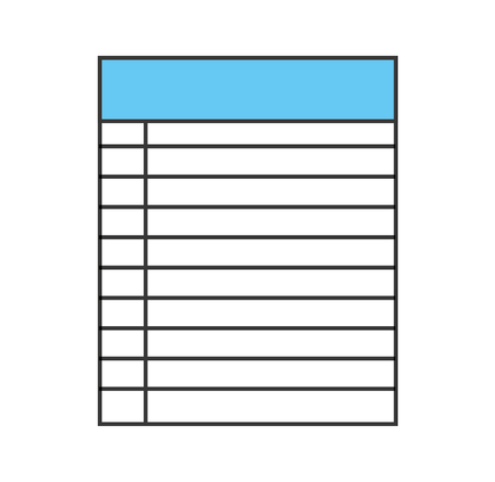 Paper notebook isolated icon vector illustration design