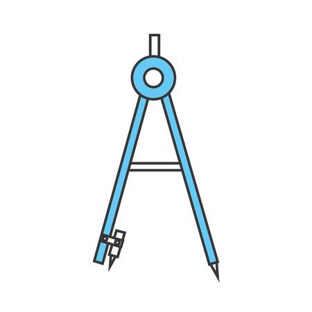 ジオメトリ コンパス分離アイコン ベクトル イラスト デザイン
