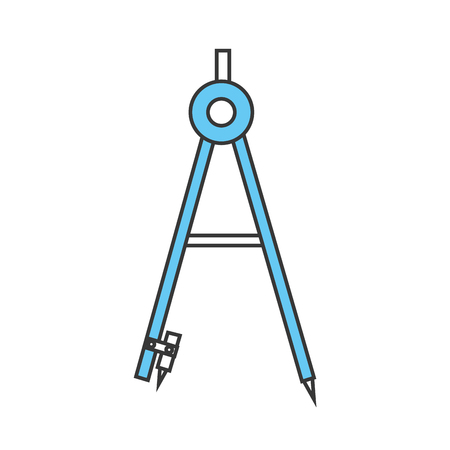 geometrie kompas geïsoleerd pictogram vector illustratie ontwerp Stock Illustratie