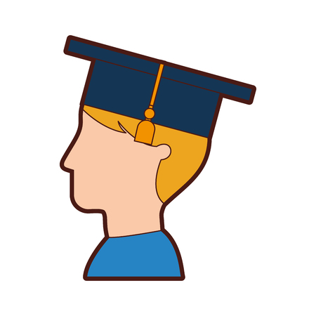 Student graduated isolated icon vector illustration design Çizim