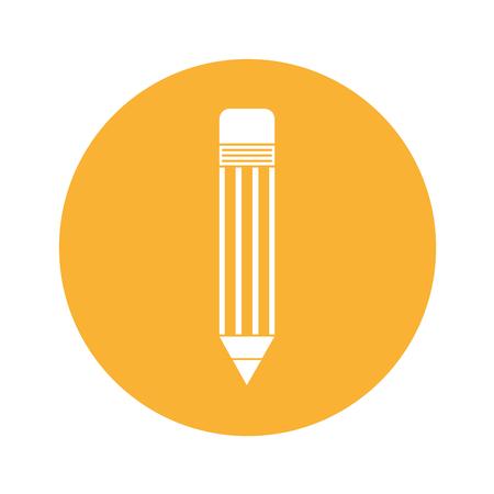 pencil school isolated icon vector illustration design