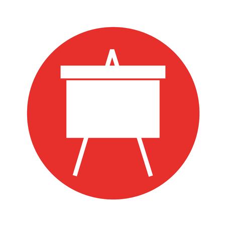 Paperboard Flip chart isolated icon vector illustration design Illustration