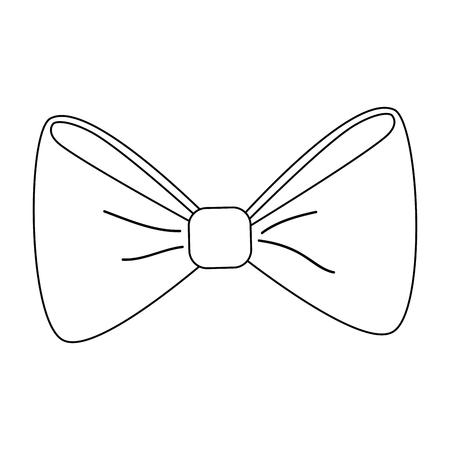 Icono de la pajarita sobre fondo blanco. ilustración vectorial Foto de archivo - 78846098