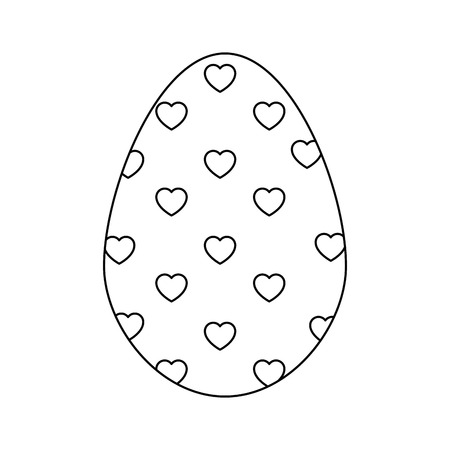 easter egg icon over white background. vector illustration Иллюстрация