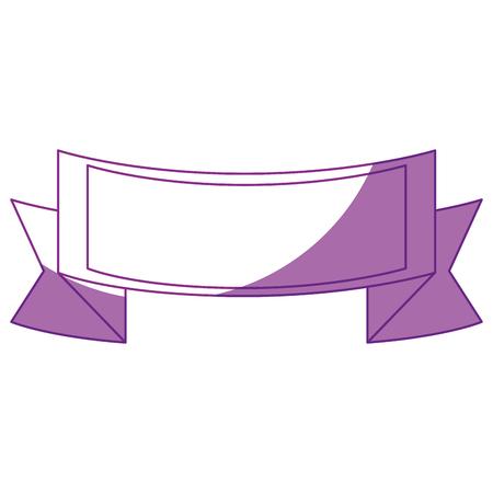 decorative ribbon icon over white background. vector illustration Stock Vector - 78846368