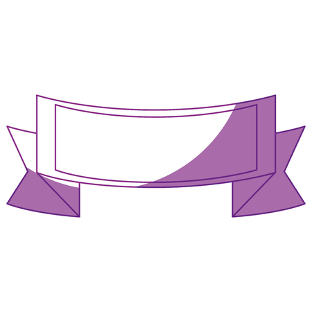 decorative ribbon icon over white background. vector illustration