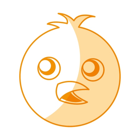 cute chicken character icon vector illustration design