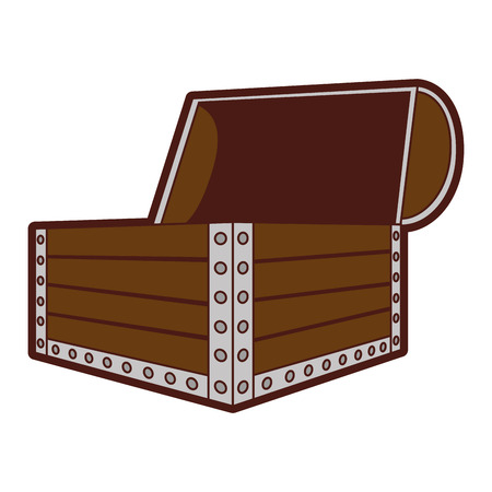 antique furniture: wooden chest isolated icon vector illustration design
