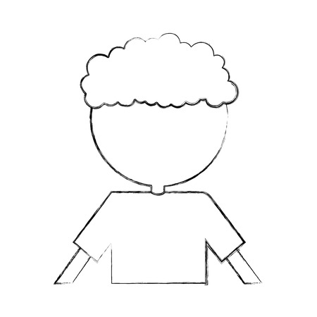 Curly haired boy character vector illustration design Stock Vector - 78846275