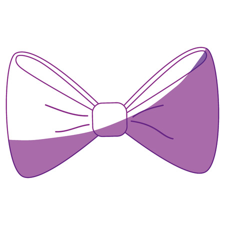 bow tie icon over white background. vector illustration
