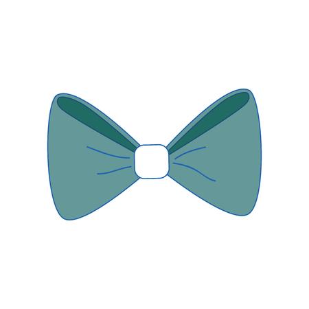 bow tie icon over white background. colorful design. vector illustration Ilustração