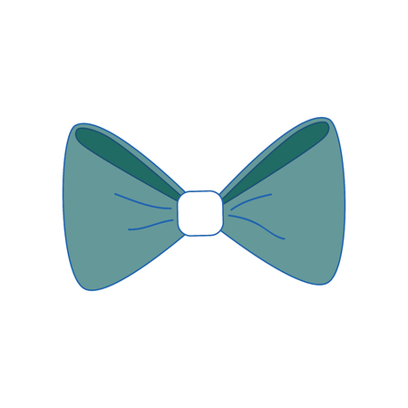 bow tie icon over white background. colorful design. vector illustration Illustration