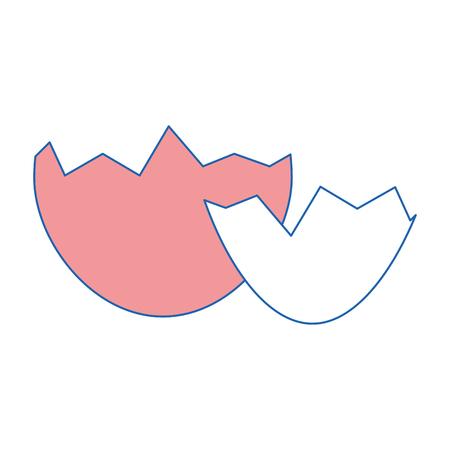 eggshell icon over white background. colorful design. vector illustration Çizim