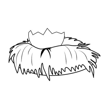 eggshell icon over white background. vector illustration