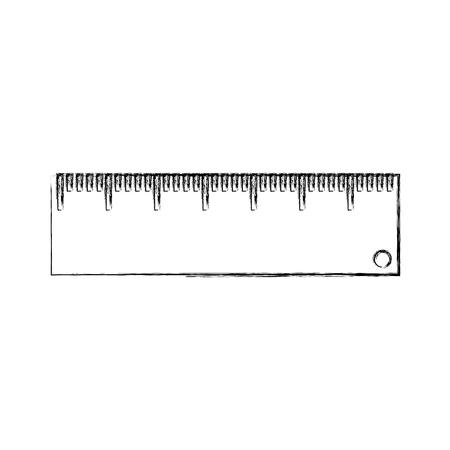 A rule school supply icon vector illustration design.