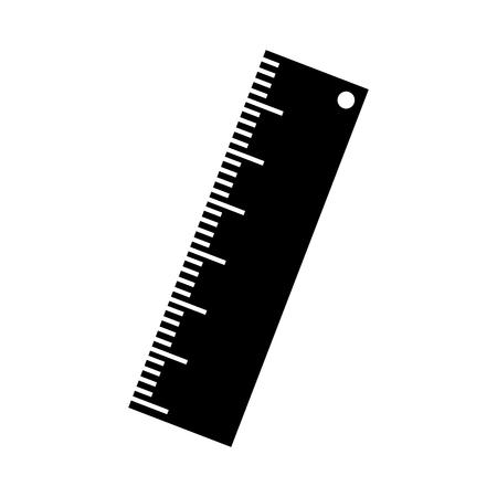 rule school supply icon vector illustration design Ilustrace