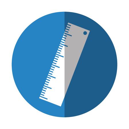 rule school supply icon vector illustration design Ilustração