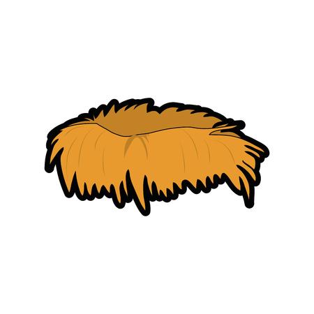 bird nest icon over white background. vector illustration Illustration