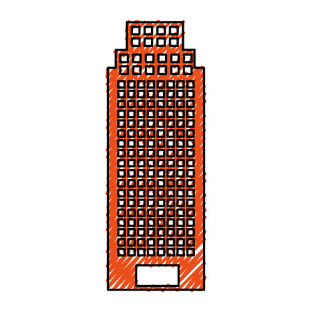 storey: exterior building drawing icon vector illustration design Illustration