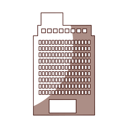 multi storey: exterior building drawing icon vector illustration design Stock Photo