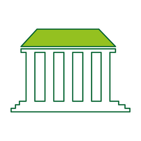 governmental building isolated icon vector illustration design