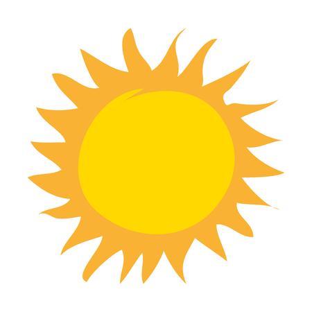 sol de verano, dibujo, icono, vector, ilustración, diseño Ilustración de vector