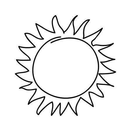 Zomer zon tekening pictogram vector illustratie ontwerp