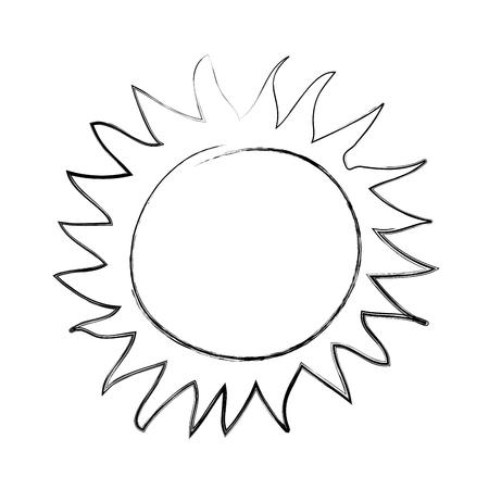 summer sun drawing icon vector illustration design Ilustração