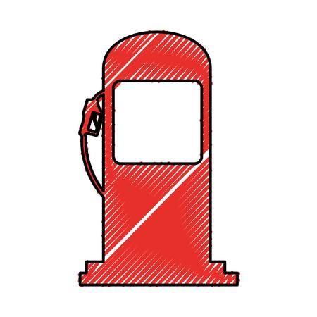 Pompa stacji obsługi izolowanych ikonę ilustracji wektorowych projektowania Ilustracje wektorowe
