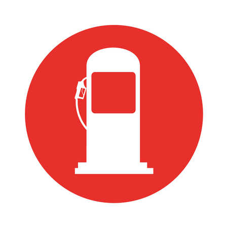 station service pump isolated icon vector illustration design