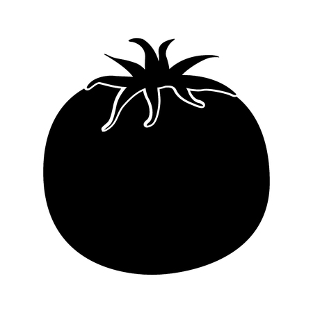 tomato fresh vegetable icon vector illustration design