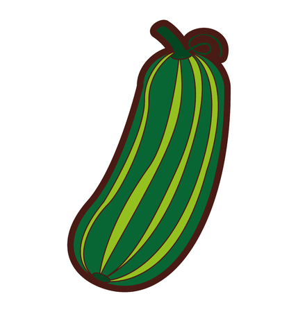 cucumber fresh vegetable icon vector illustration design Ilustrace