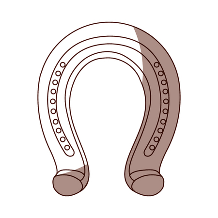 horseshoe metalic isolated icon vector illustration design