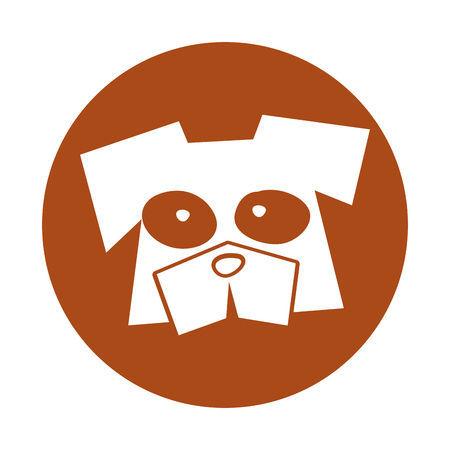 dog comic character icon vector illustration design Illustration