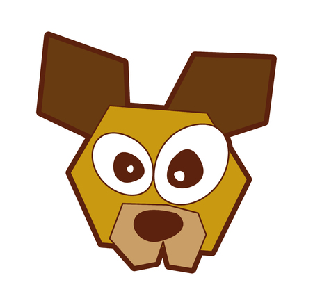 dog comic character icon vector illustration design 向量圖像