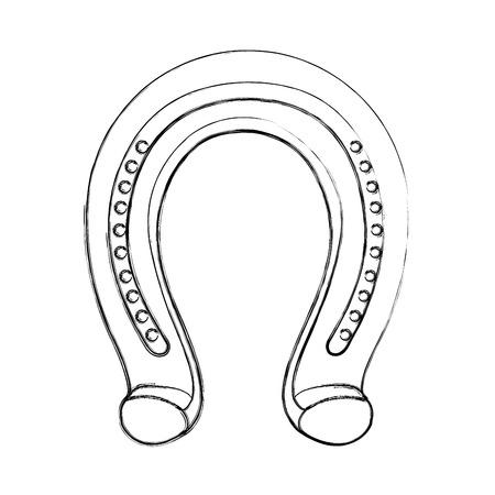 Ikonenvektor-Illustrationsdesign des Hufeisens metallisch lokalisiert Standard-Bild - 78923797