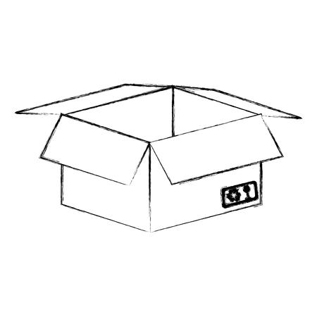 sign post: box carton isolated icon vector illustration design