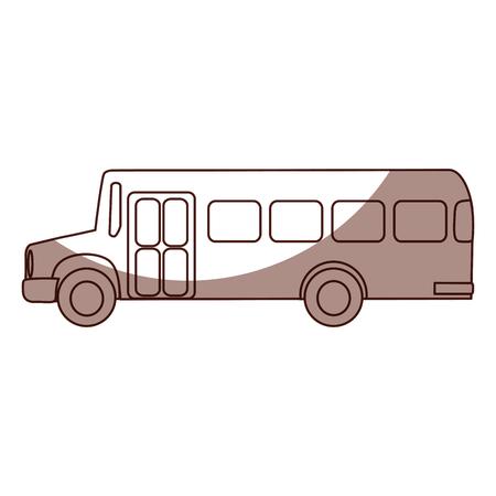 bus transport isolated icon vector illustration design Illustration
