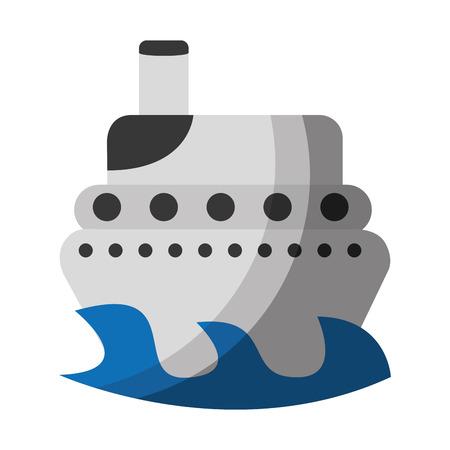 ship boat isolated icon vector illustration design