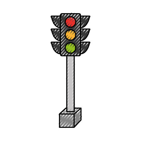 traffic light isolated icon vector illustration design Illustration