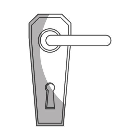 Modern door handle icon vector illustration design