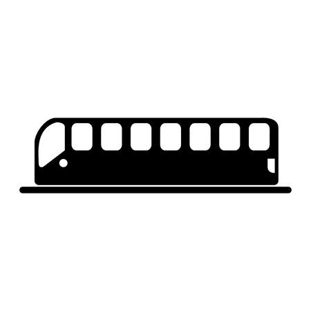 Tranvía transporte icono aislado ilustración vectorial diseño