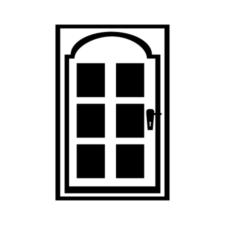 modern house door icon vector illustration design