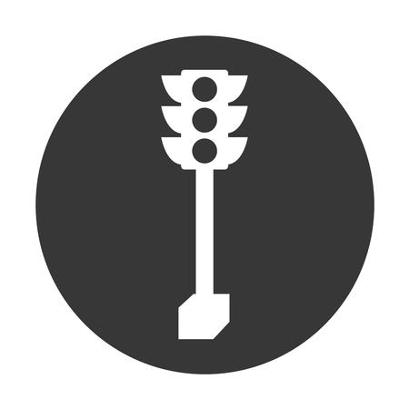 traffic light isolated icon vector illustration design Иллюстрация