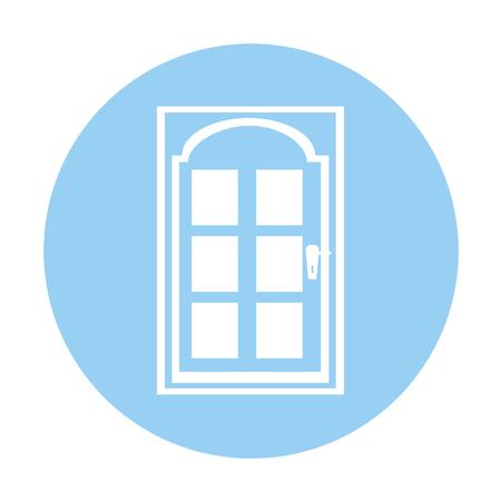 Moderne huis deur icoon vector illustratie ontwerp