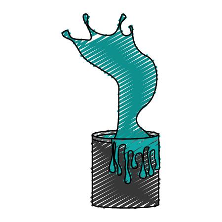 Splashing paint pot icon vector illustration design Stock Vector - 78924202